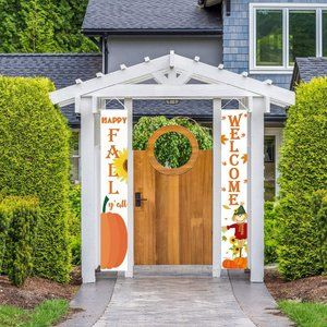 Happy Fall Hanging Banner | Welcome Sign Autumn